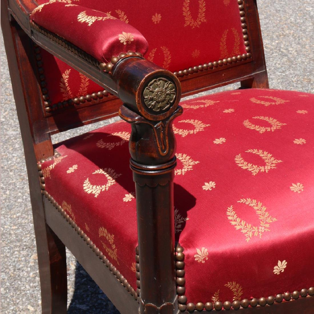 PAIR ENGLISH REGENCY-STYLE OPEN ARMCHAIRS - 2