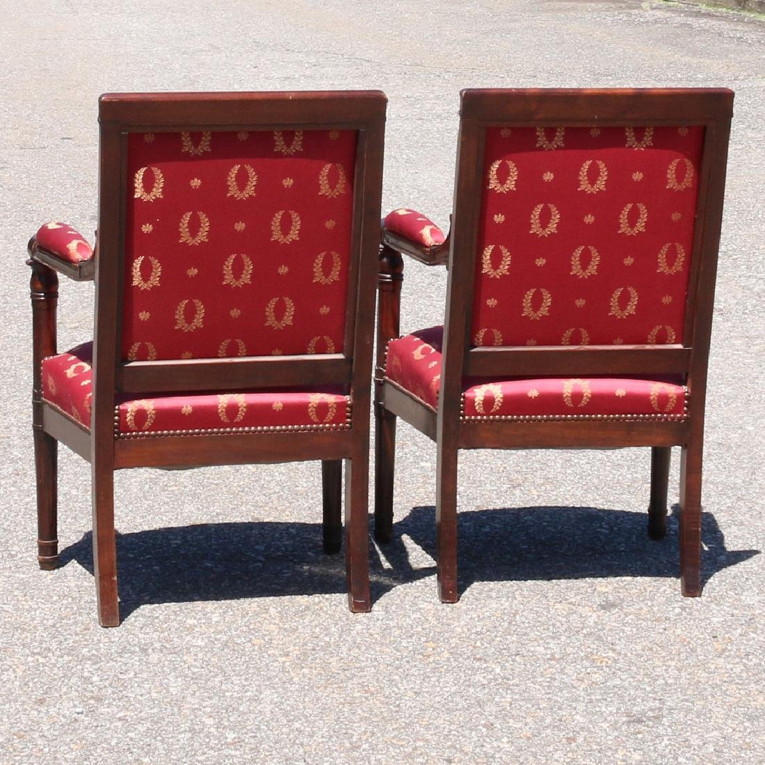 PAIR ENGLISH REGENCY-STYLE OPEN ARMCHAIRS - 3
