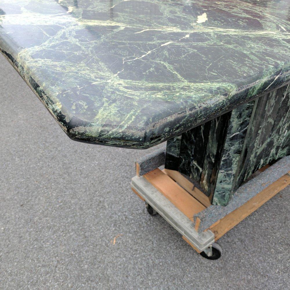 VERDE ANTICO PEDESTAL TABLE - 4