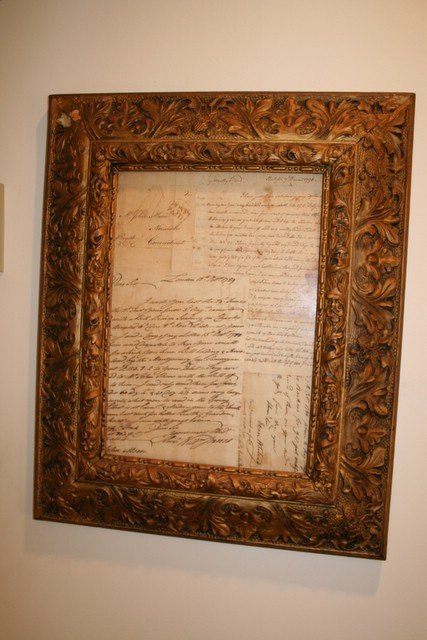 2: 3-FRAMED LATE 18TH /E. 19TH C. DOCUMENTS & LETTER