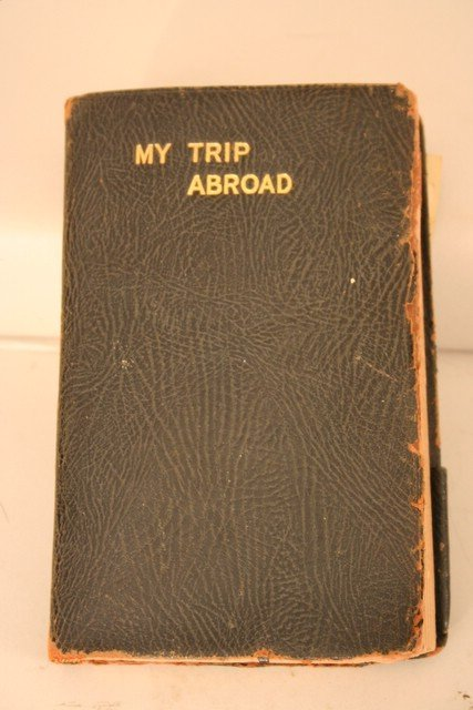 """6: """"MY TRIP ABROAD"""" 1922 DIARY OF YOUNG LADY'S GRAND"""