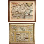 2pc EARLY MAPS OF THE MEDITERRANEAN