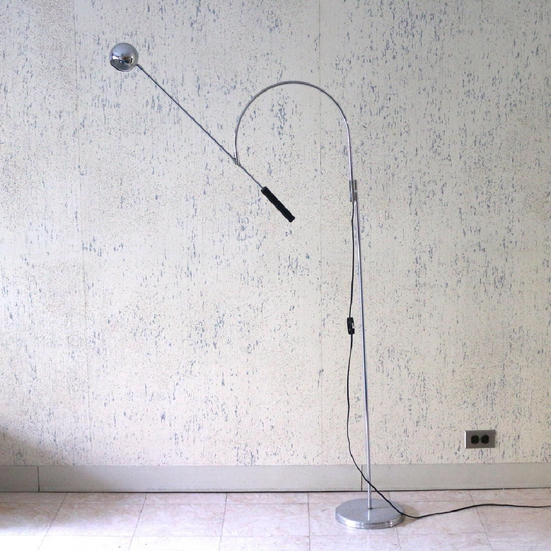 ROBERT SONNEMAN ORBITER CHROME FLOOR LAMP
