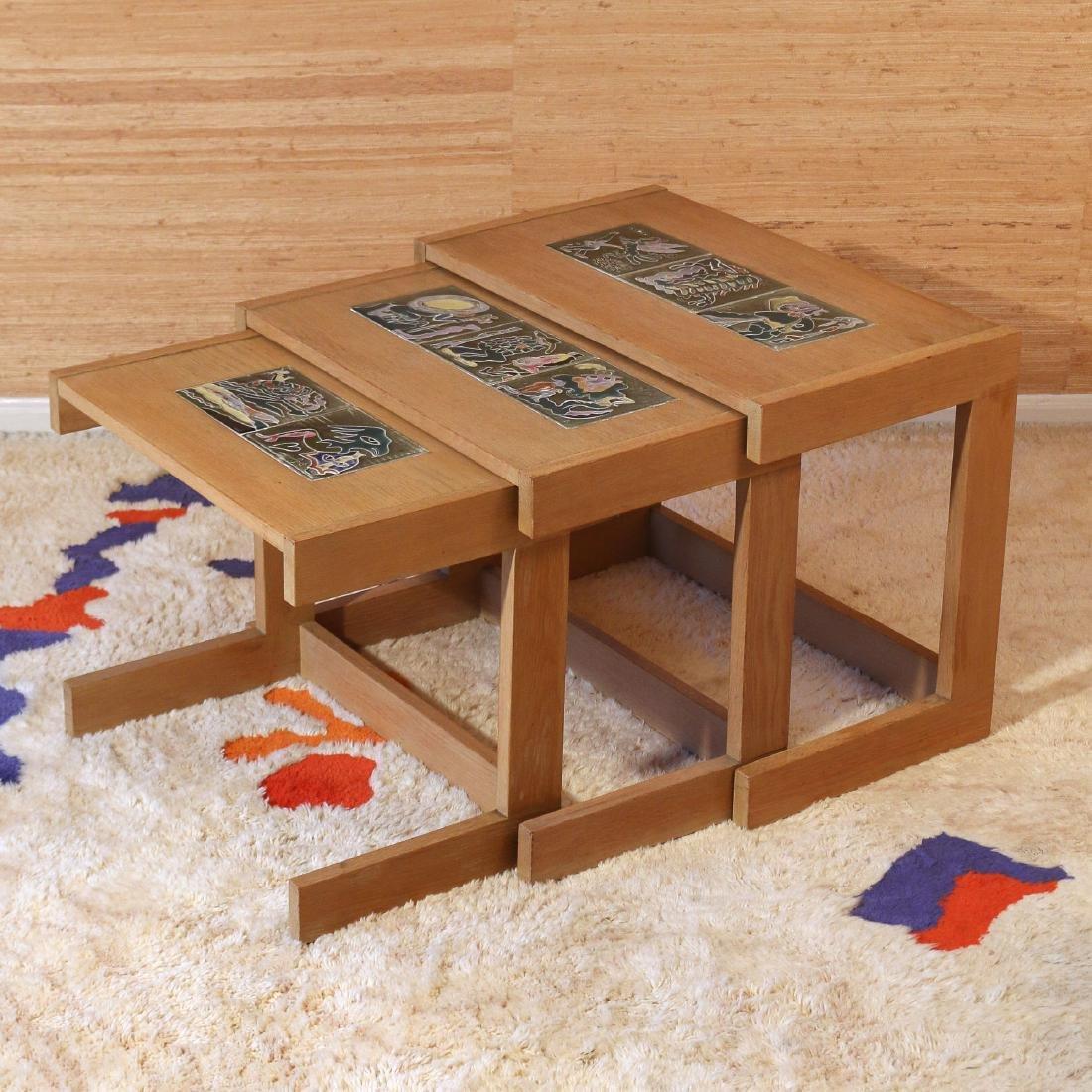 (3pc) VLADIMIR KAGAN NESTING TABLES