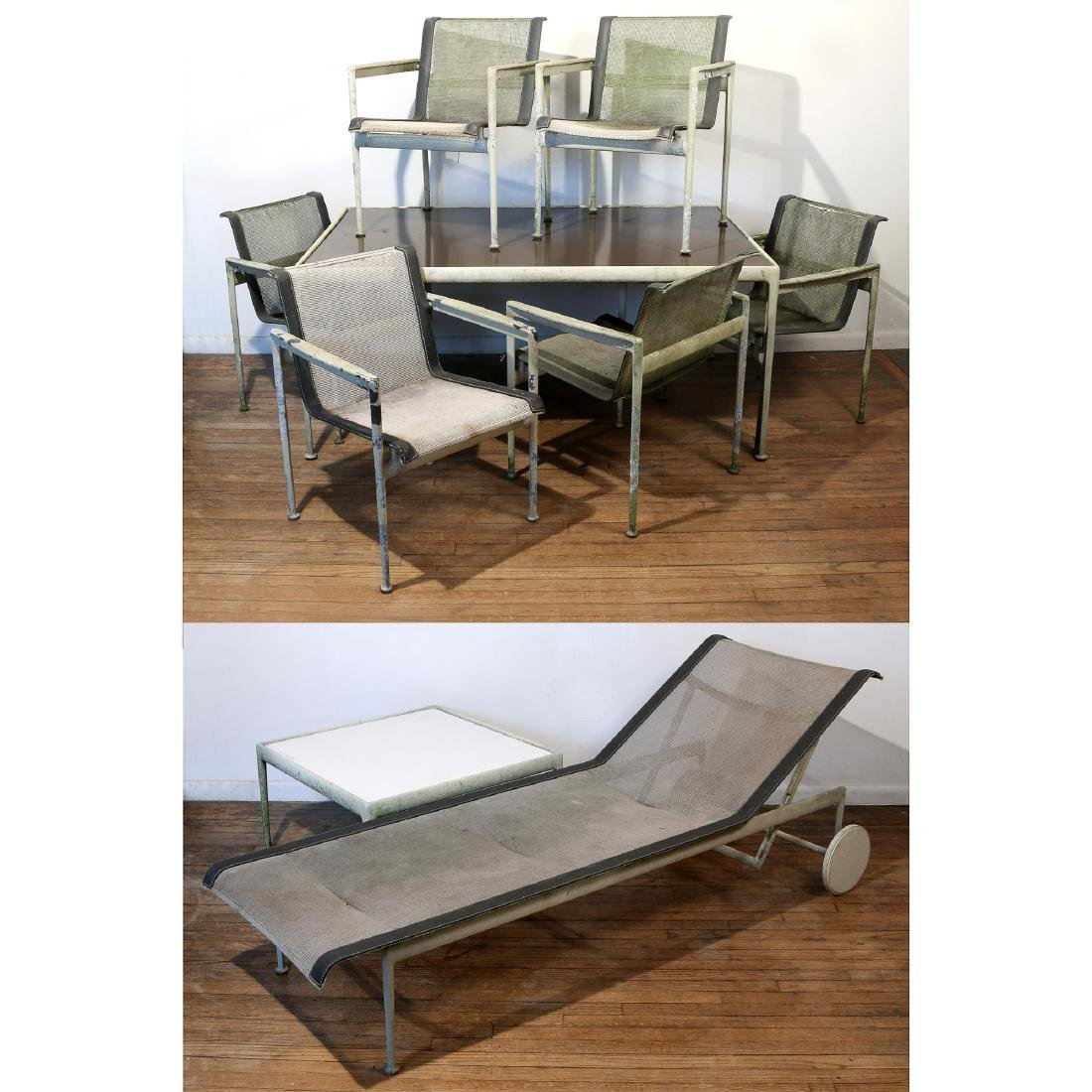 (9pc) RICHARD SCHULTZ PATIO FURNITURE