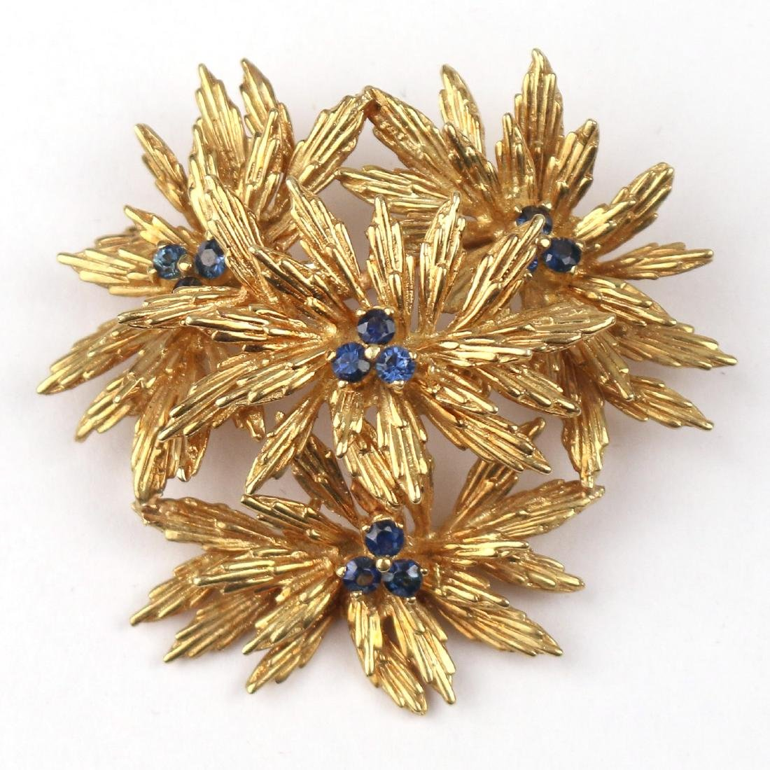 TIFFANY & Co. SAPPHIRE & GOLD PIN
