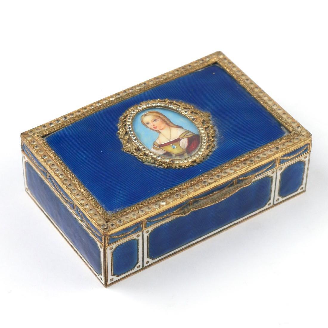 GUILLOCHE ENAMEL BOX