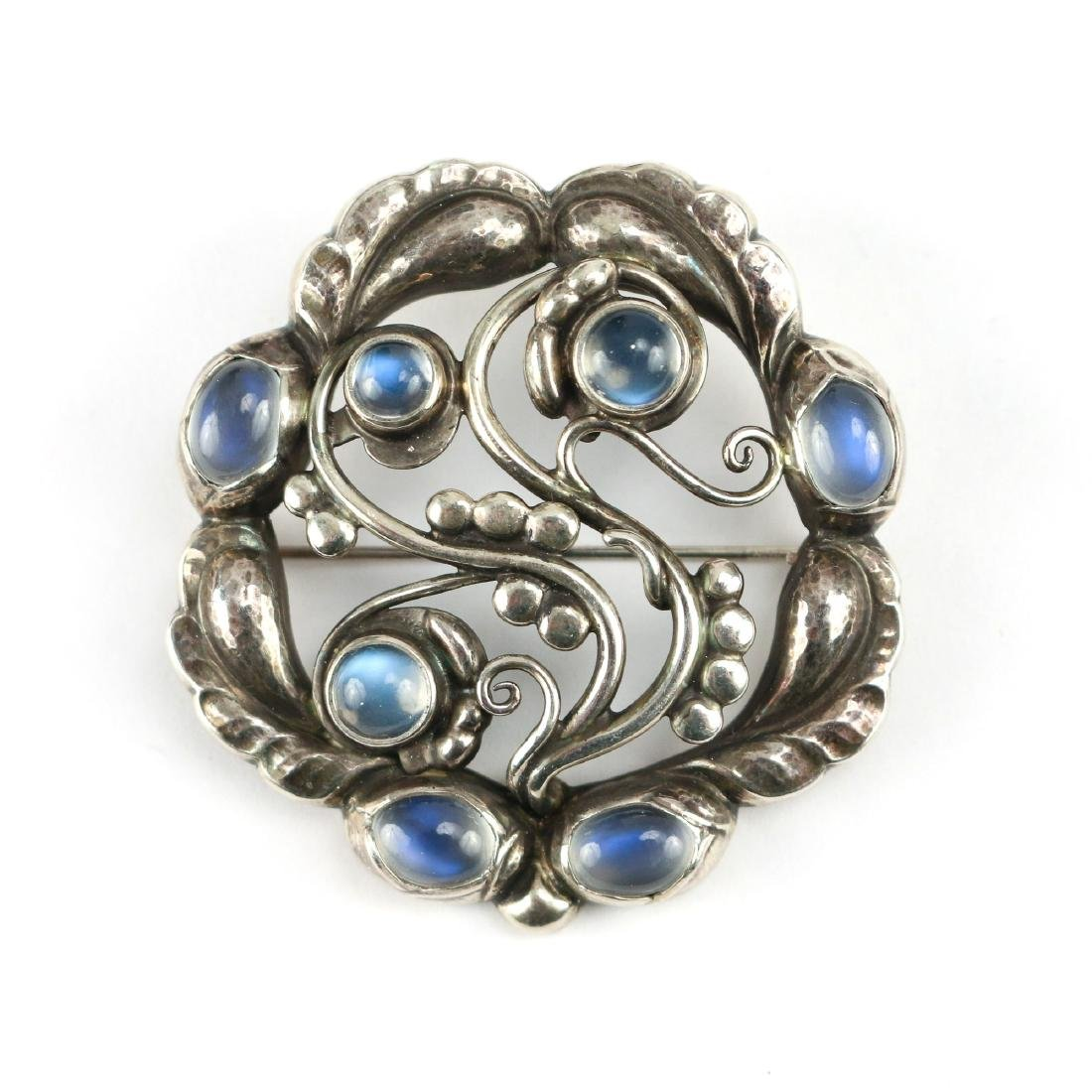 GEORG JENSEN MOONSTONE BROOCH
