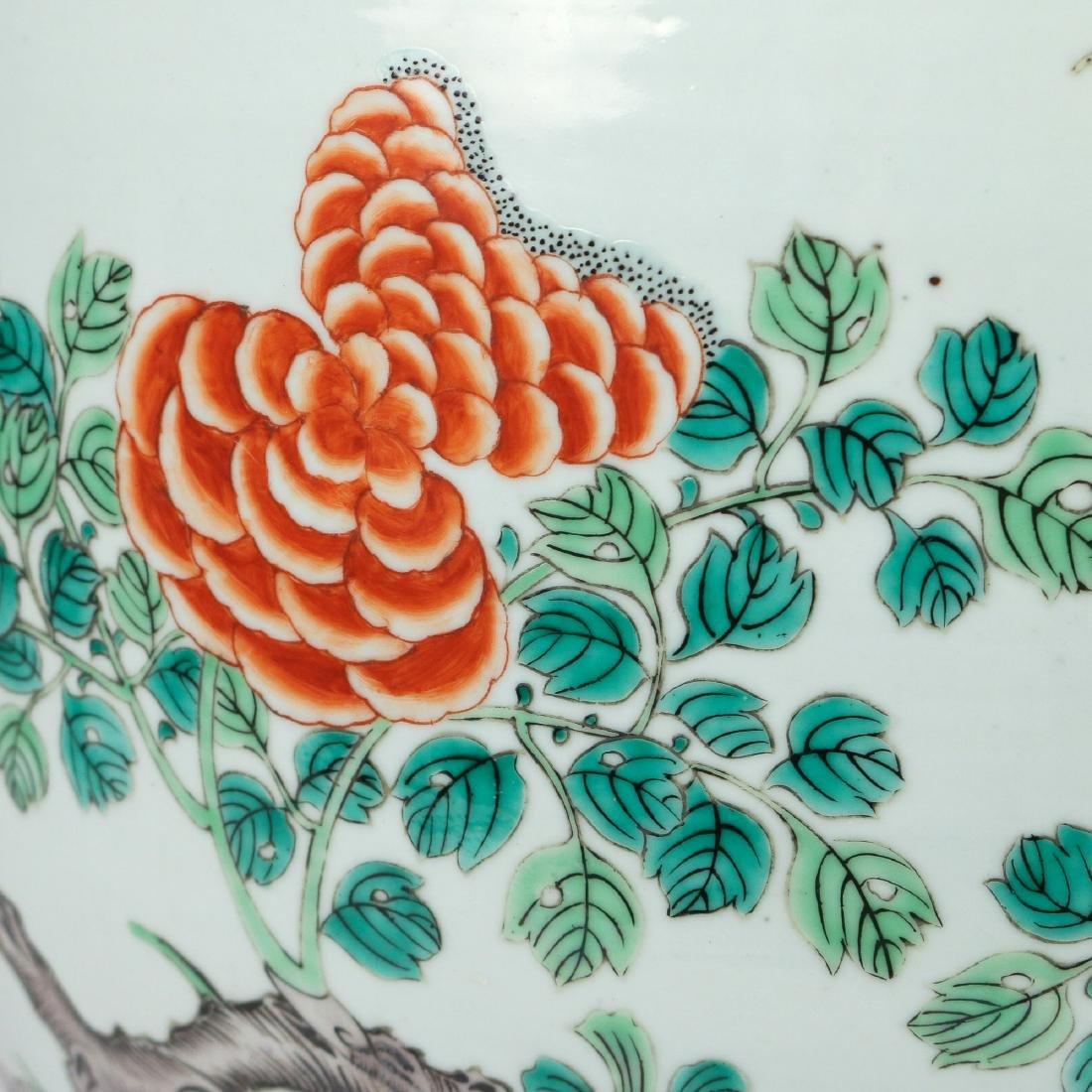 CHINESE FAMILLE VERTE PHEASANT JARDINIERE - 5
