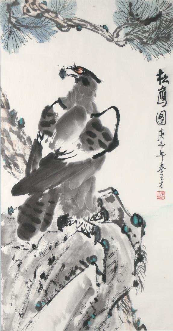 CHINESE PAINTING OF AN EAGLE