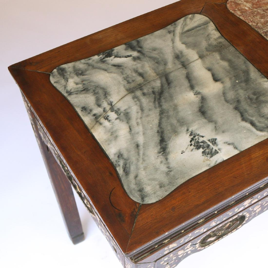 CHINESE MOTHER-OF-PEARL INLAID WRITING TABLE - 2