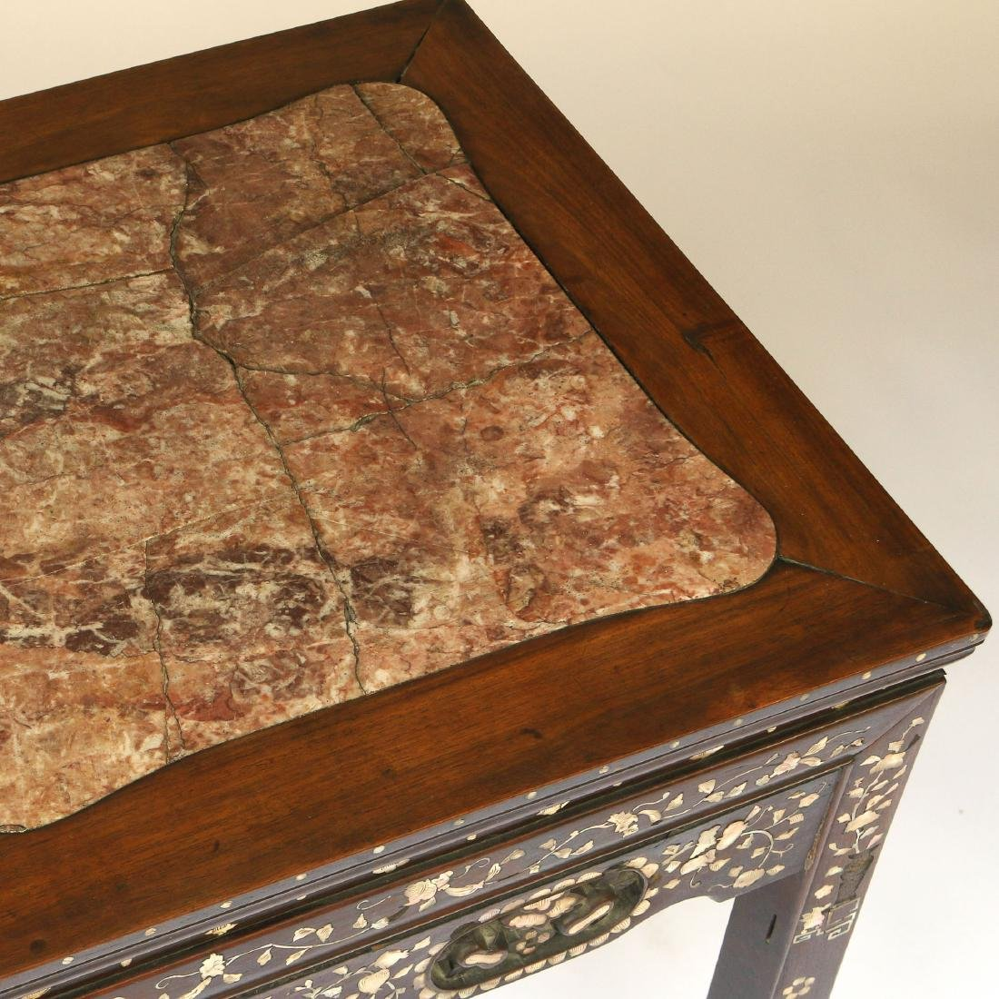 CHINESE MOTHER-OF-PEARL INLAID WRITING TABLE - 3
