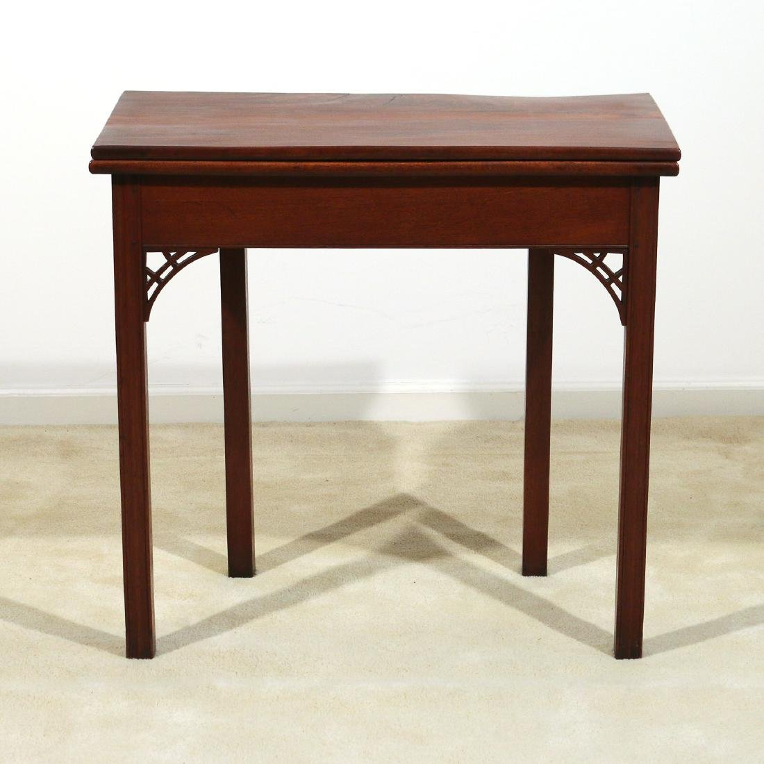 RHODE ISLAND CHIPPENDALE MAHOGANY GAME TABLE
