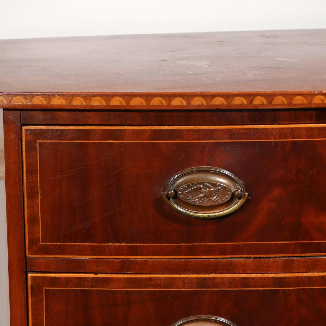 FEDERAL INLAID MAHOGANY BOW-FRONT CHEST - 2