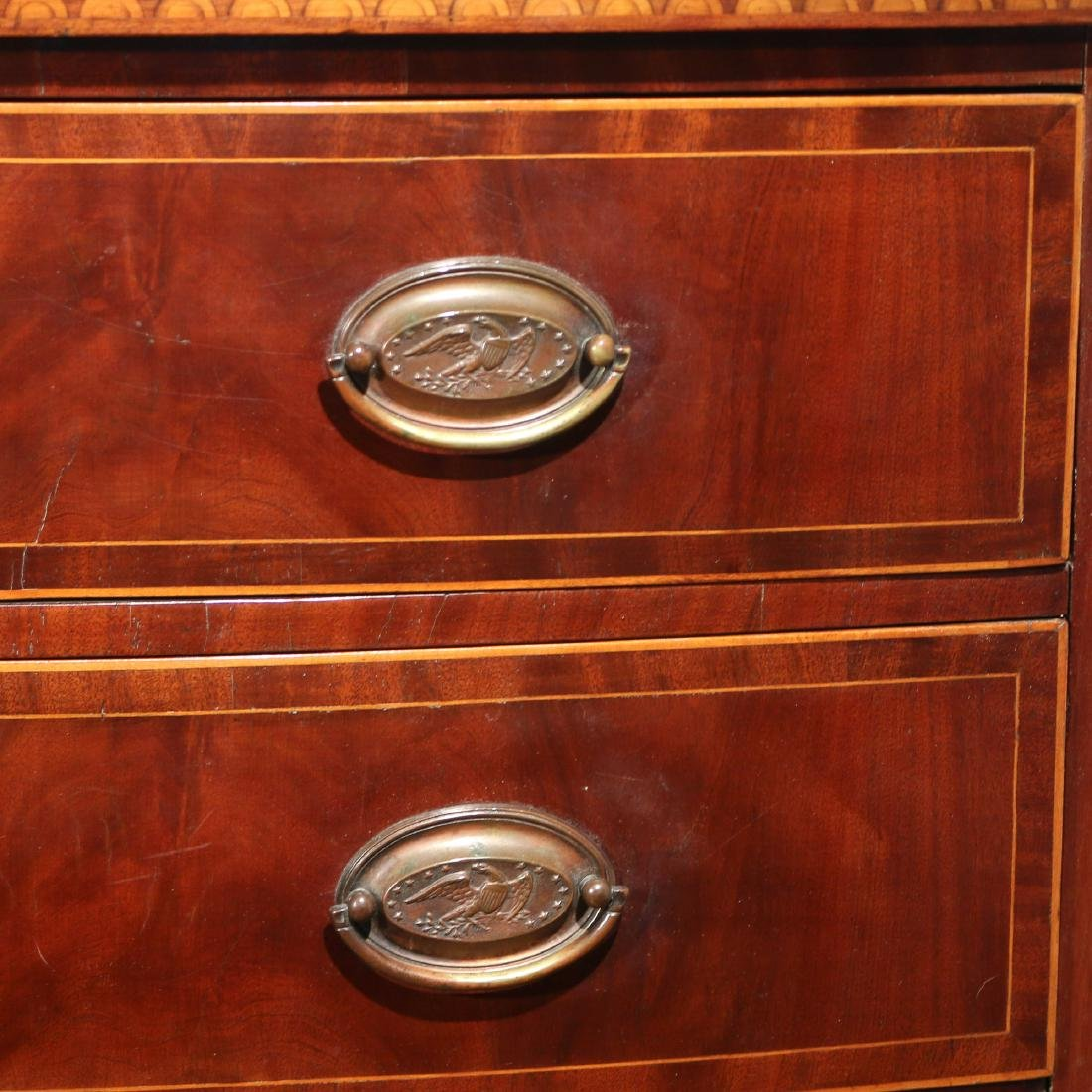 FEDERAL INLAID MAHOGANY BOW-FRONT CHEST - 6