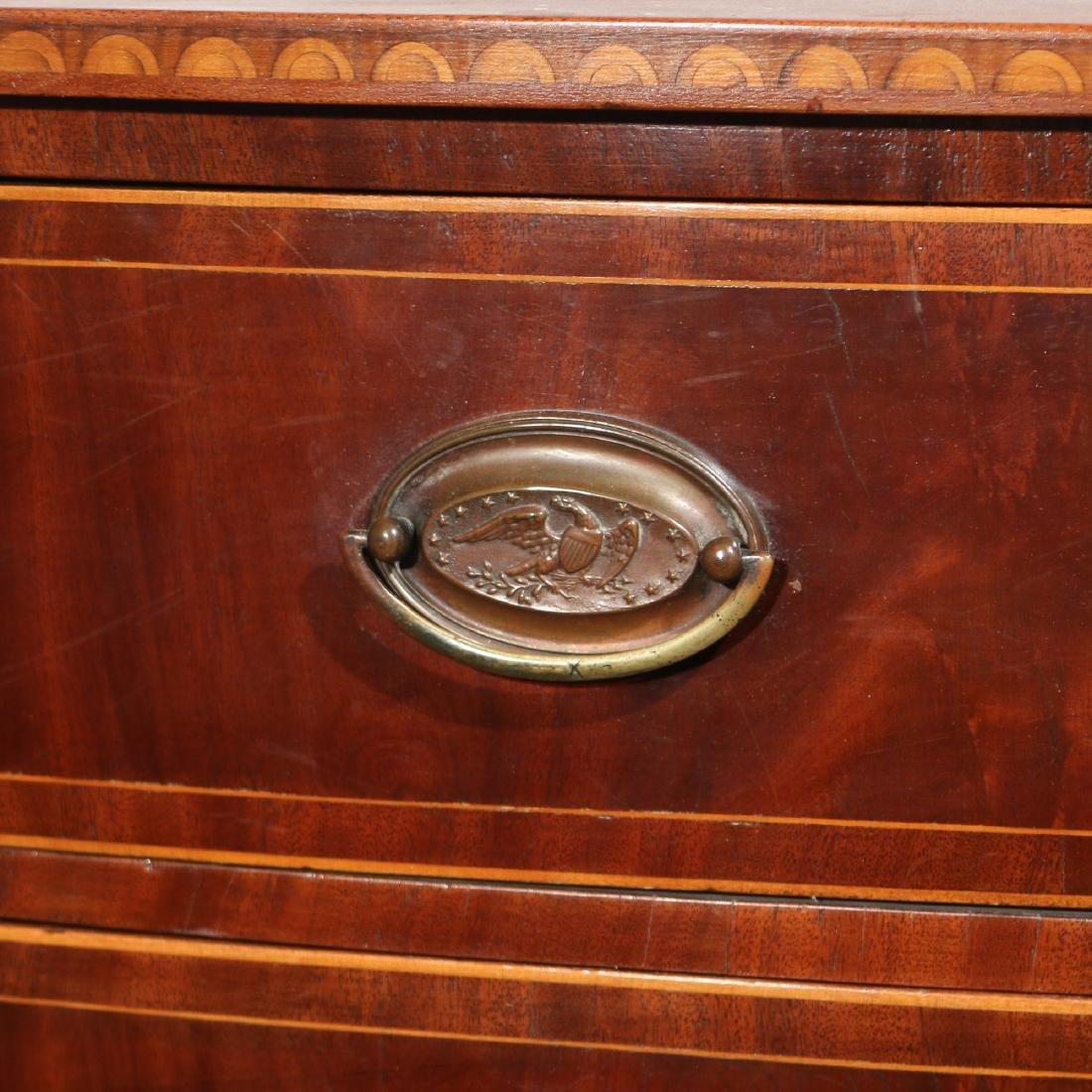 FEDERAL INLAID MAHOGANY BOW-FRONT CHEST - 7