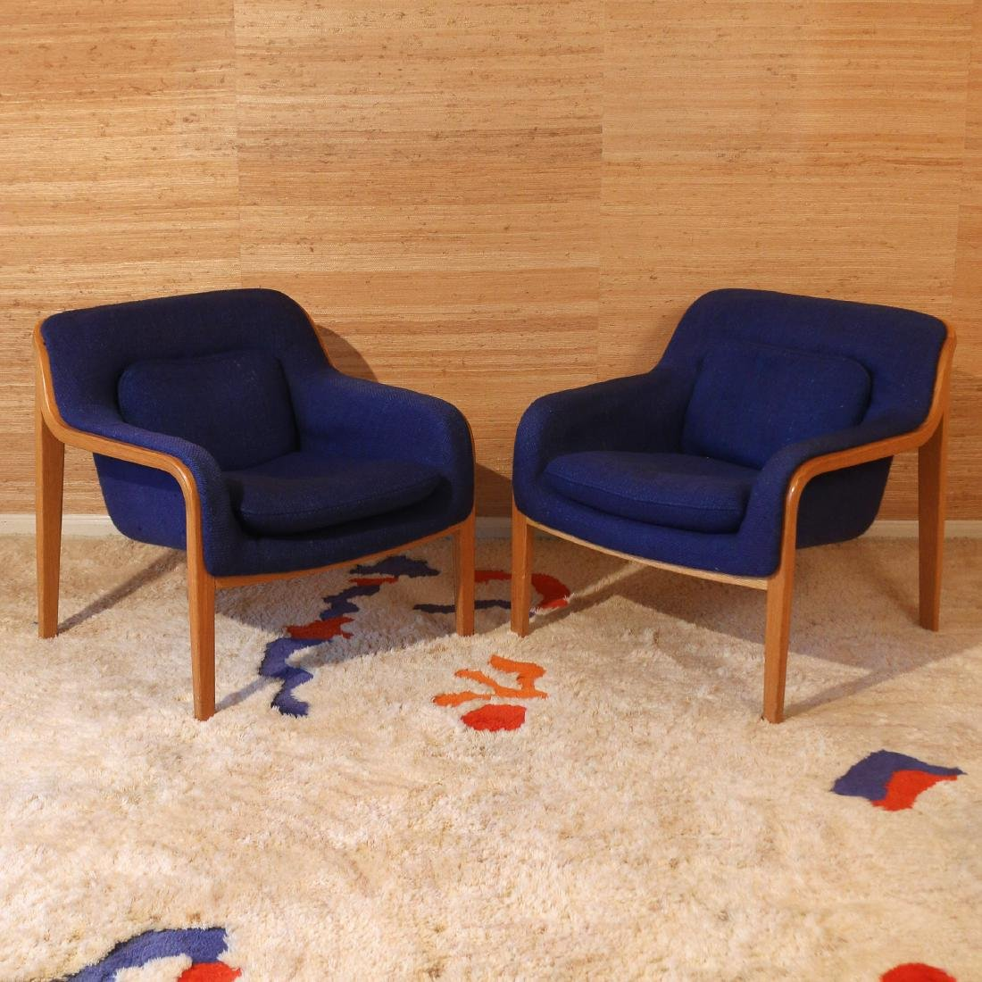 PAIR BILL STEPHENS FOR KNOLL LOUNGE CHAIRS