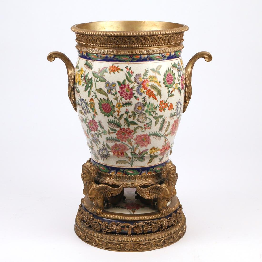 ORMOLU-MOUNTED CERAMIC JARDINIERE