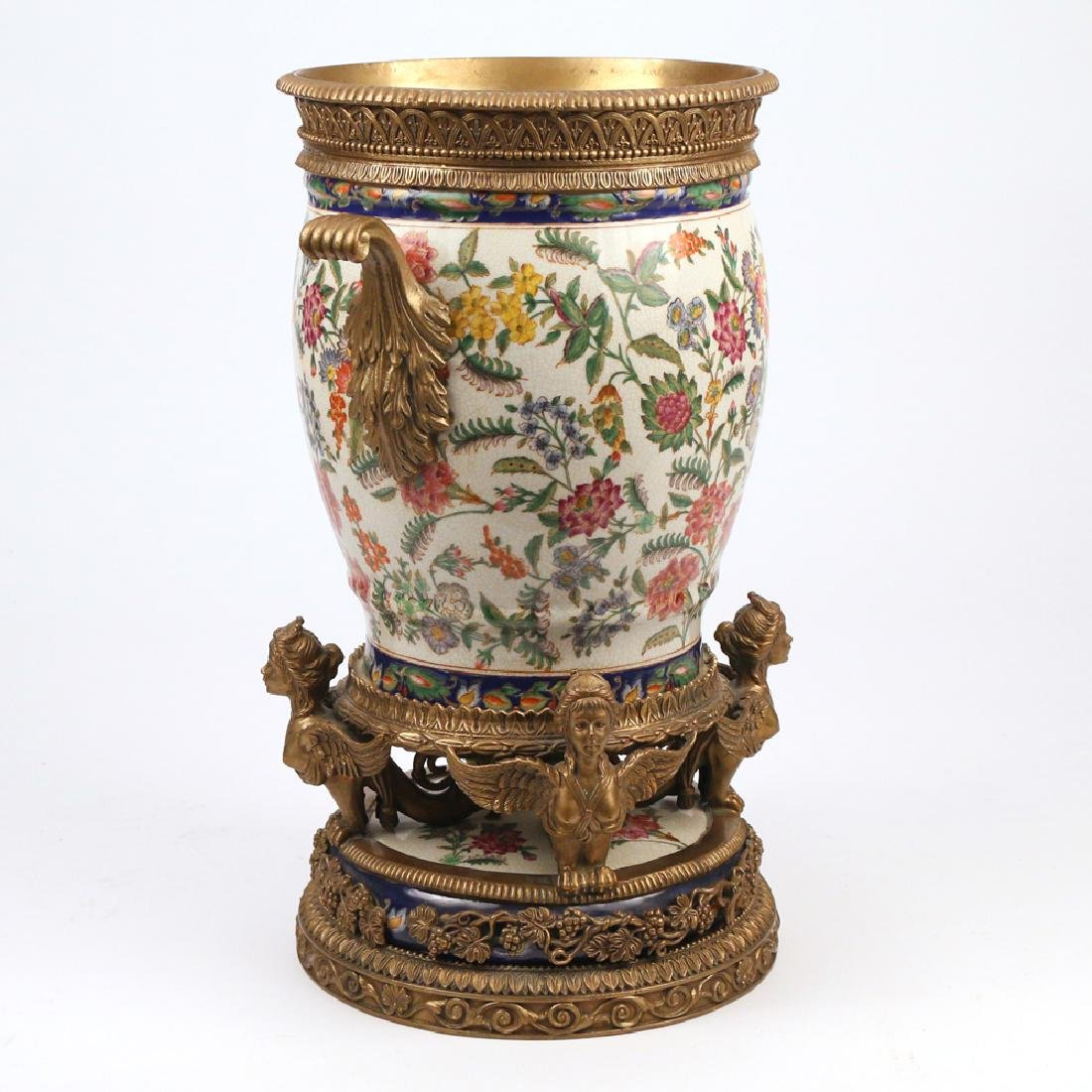 ORMOLU-MOUNTED CERAMIC JARDINIERE - 2