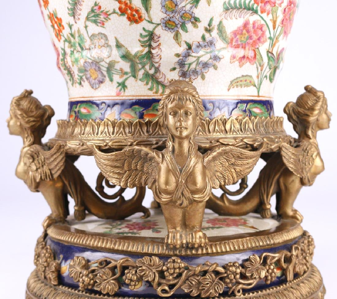 ORMOLU-MOUNTED CERAMIC JARDINIERE - 3