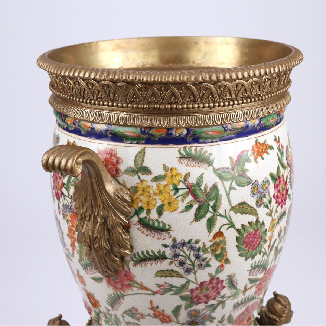 ORMOLU-MOUNTED CERAMIC JARDINIERE - 4