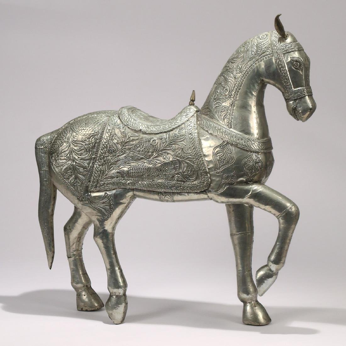 DAMASCUS SILVER FIGURE OF A HORSE