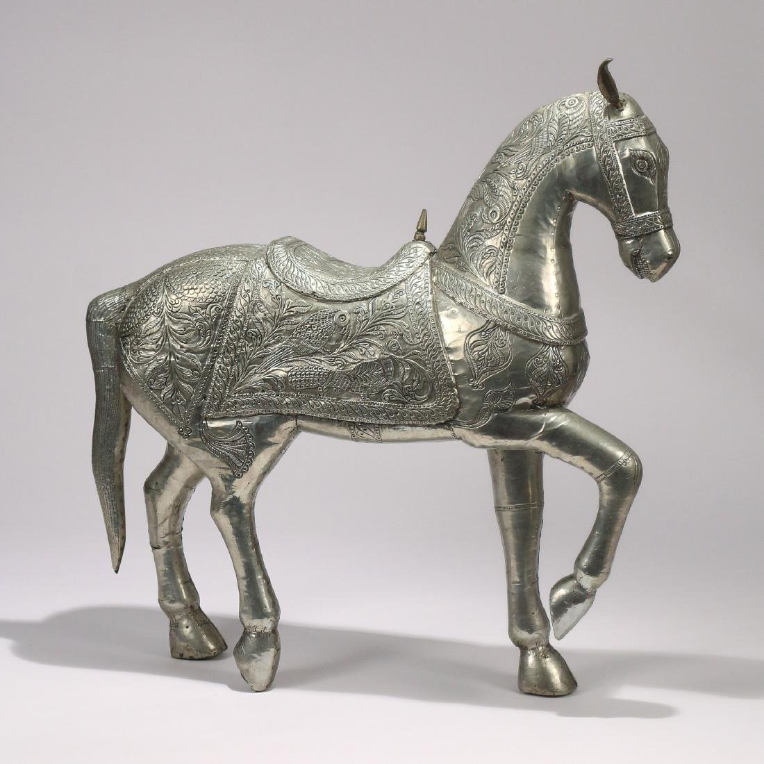 DAMASCUS SILVER FIGURE OF A HORSE - 2