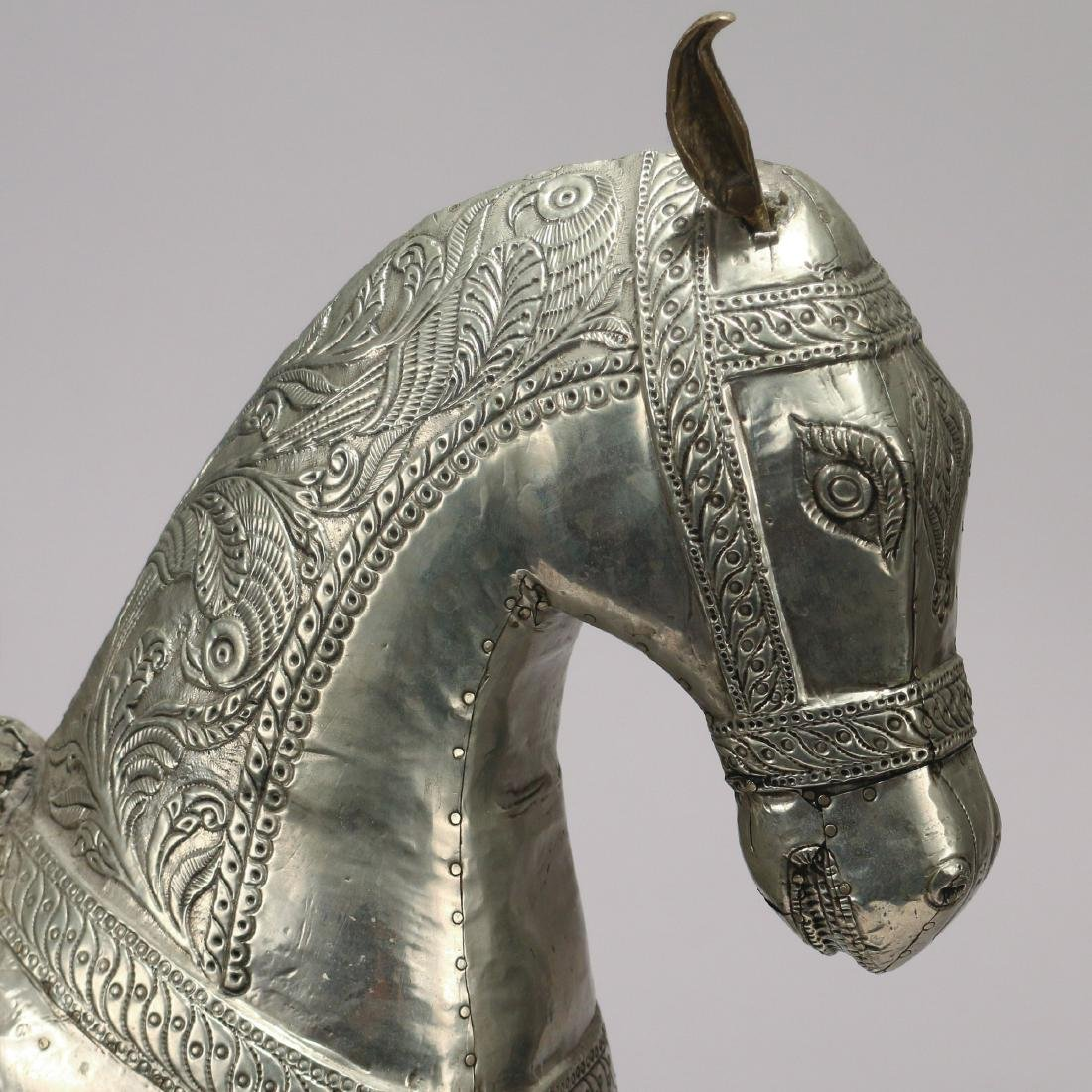 DAMASCUS SILVER FIGURE OF A HORSE - 4