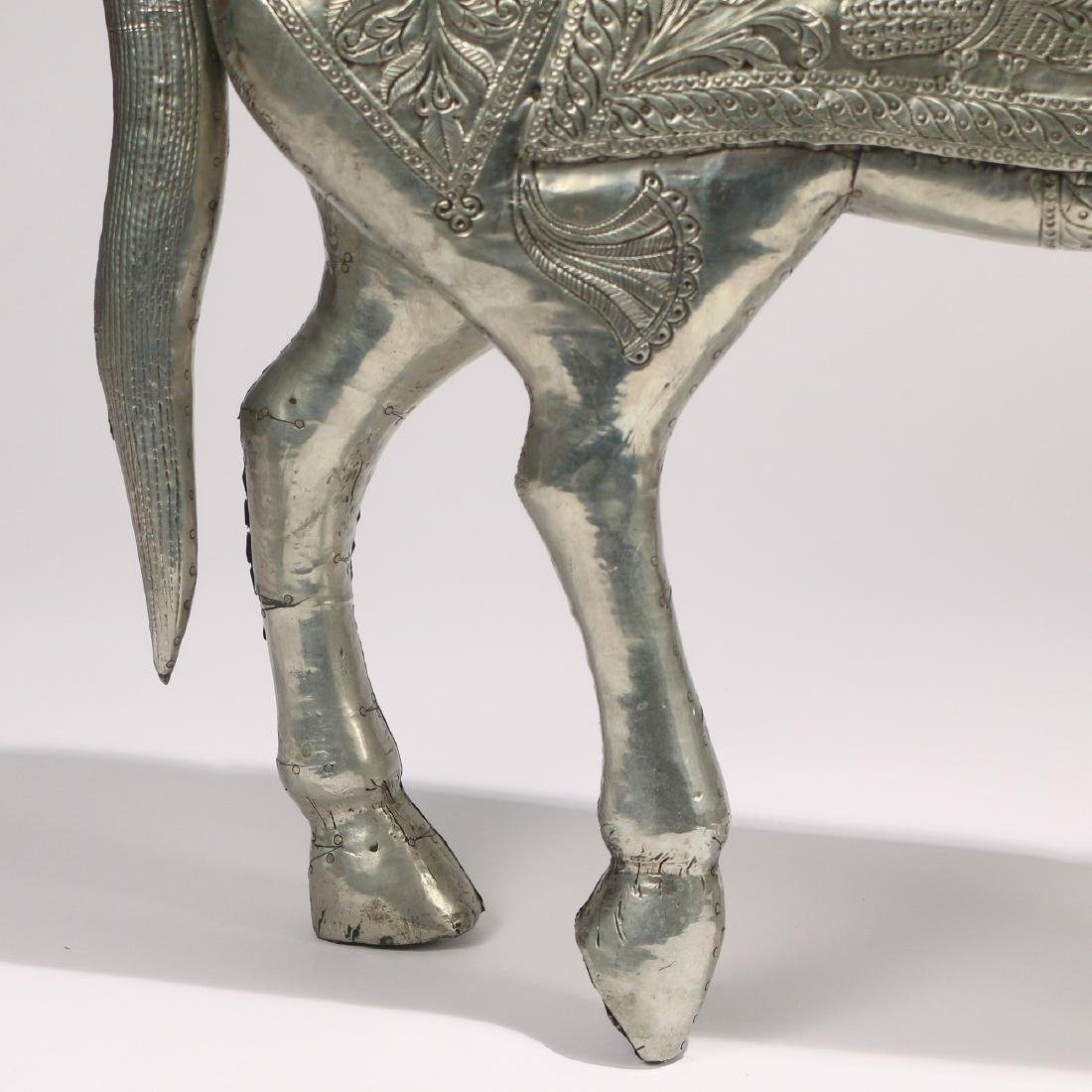 DAMASCUS SILVER FIGURE OF A HORSE - 7