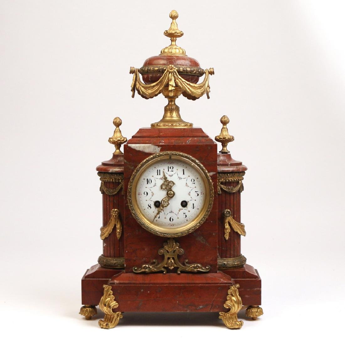 FRENCH AD. MOUGIN MANTLE CLOCK