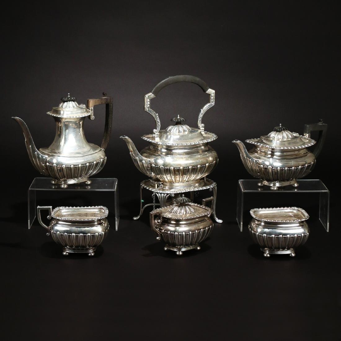 (6pc) ENGLISH SILVER TEA SET
