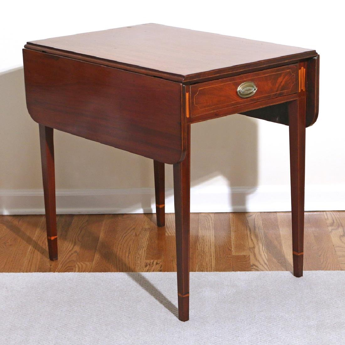 FEDERAL INLAID MAHOGANY PEMBROKE TABLE