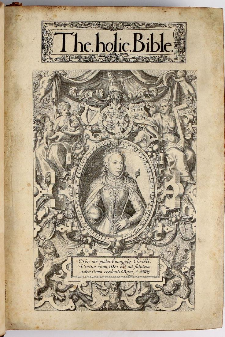 [FRANCIS FRY COPY] BISHOPS' BIBLE [1572]