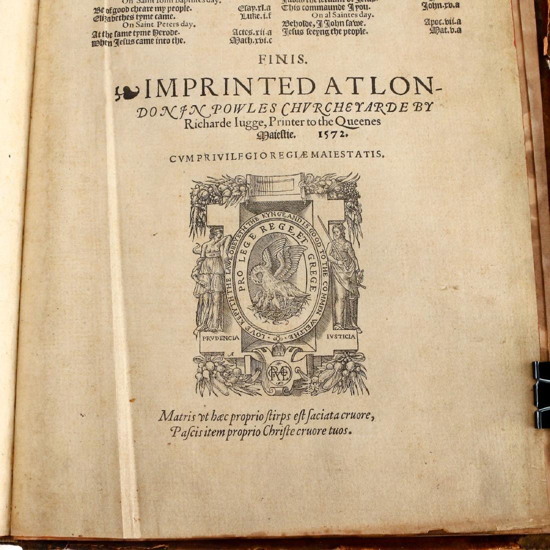 [FRANCIS FRY COPY] BISHOPS' BIBLE [1572] - 2