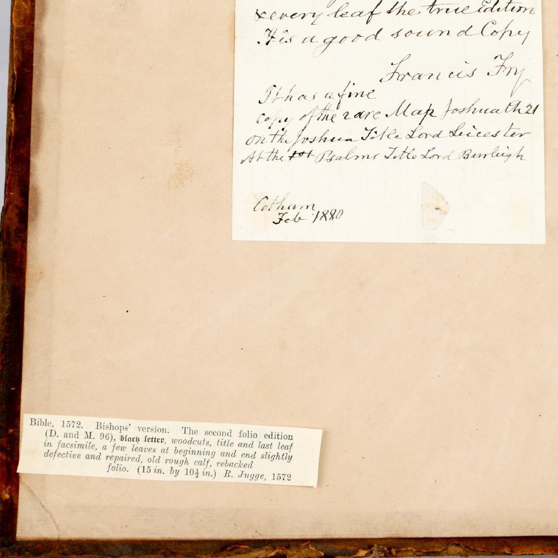 [FRANCIS FRY COPY] BISHOPS' BIBLE [1572] - 7