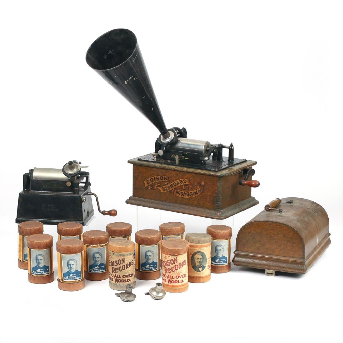 (2pc) EDISON PHONOGRAPHS