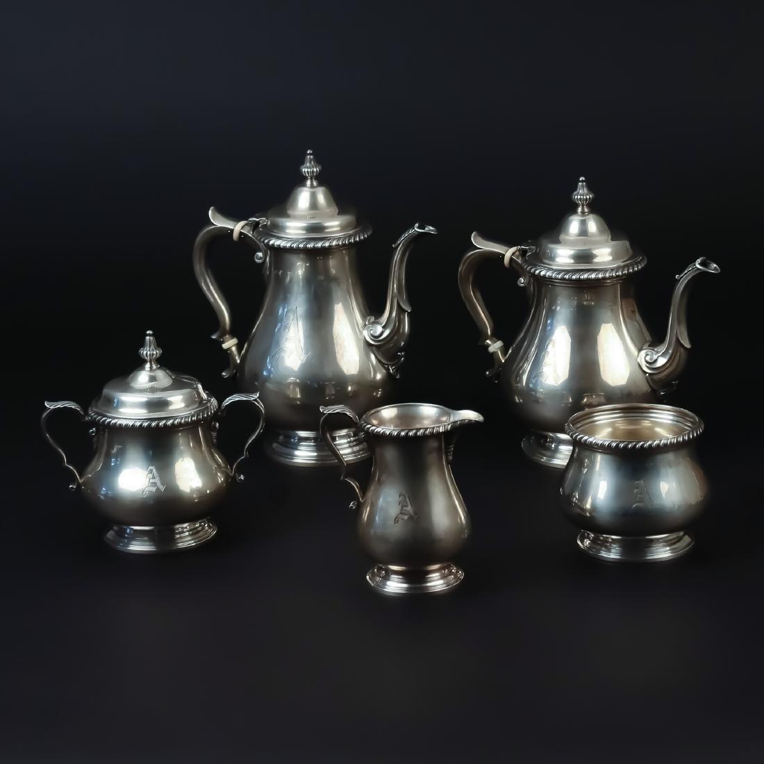 (5pc) GORHAM STERLING TEA & COFFEE