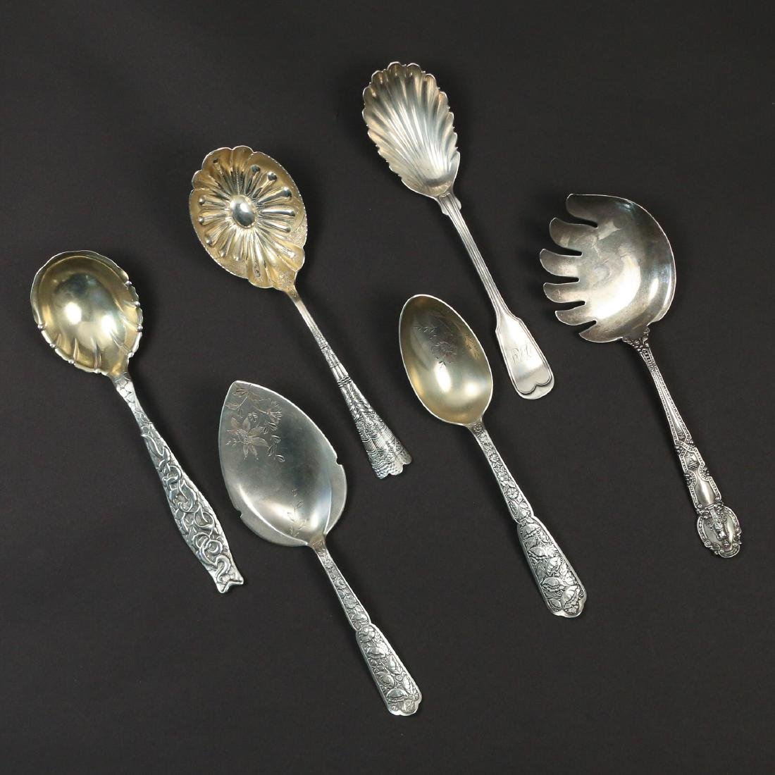 (6pc) RARE SILVER SERVING PIECES