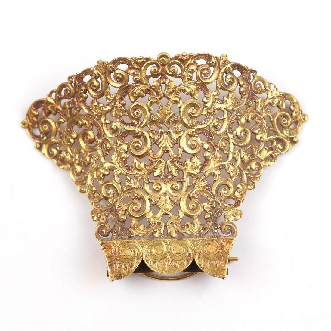 VICTORIAN GOLD HAIR CLIP