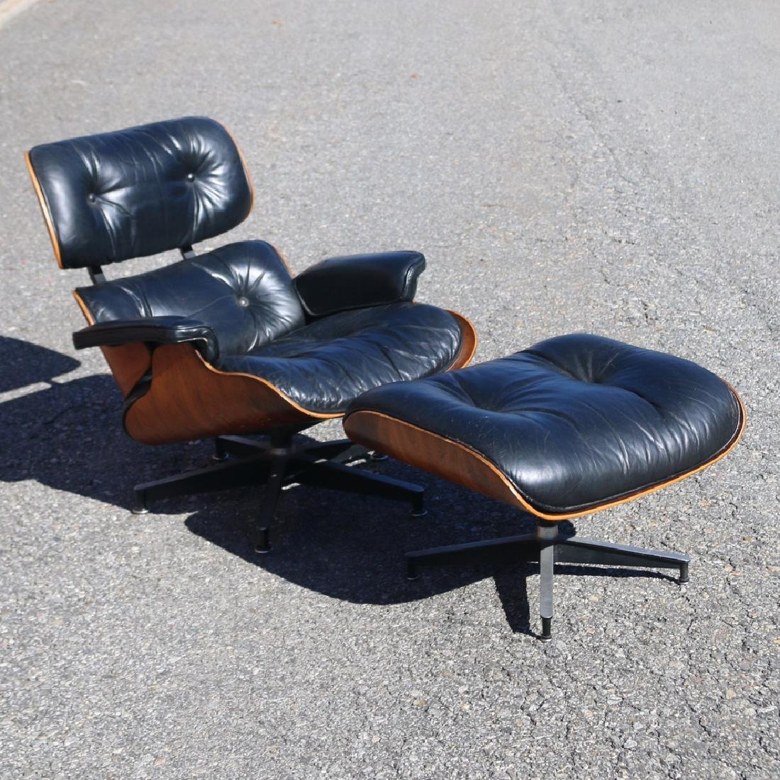 CHARLES & RAY EAMES LOUNGE CHAIR & OTTOMAN