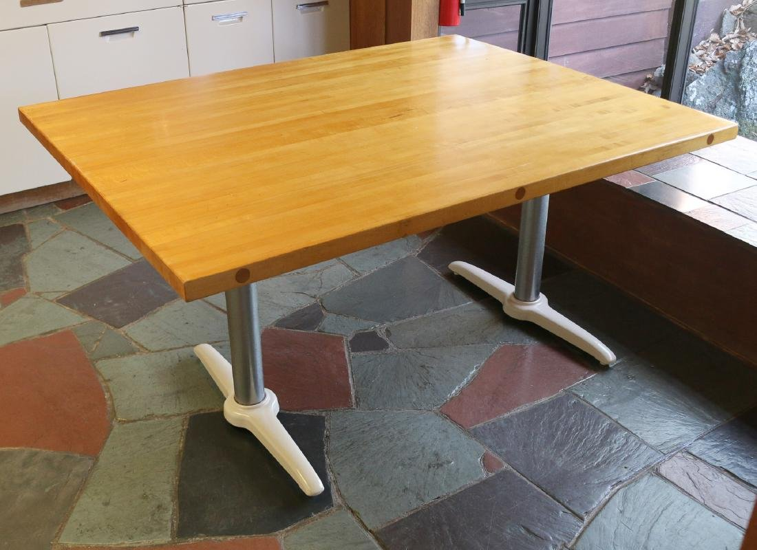 BUTCHER'S BLOCK KITCHEN TABLE