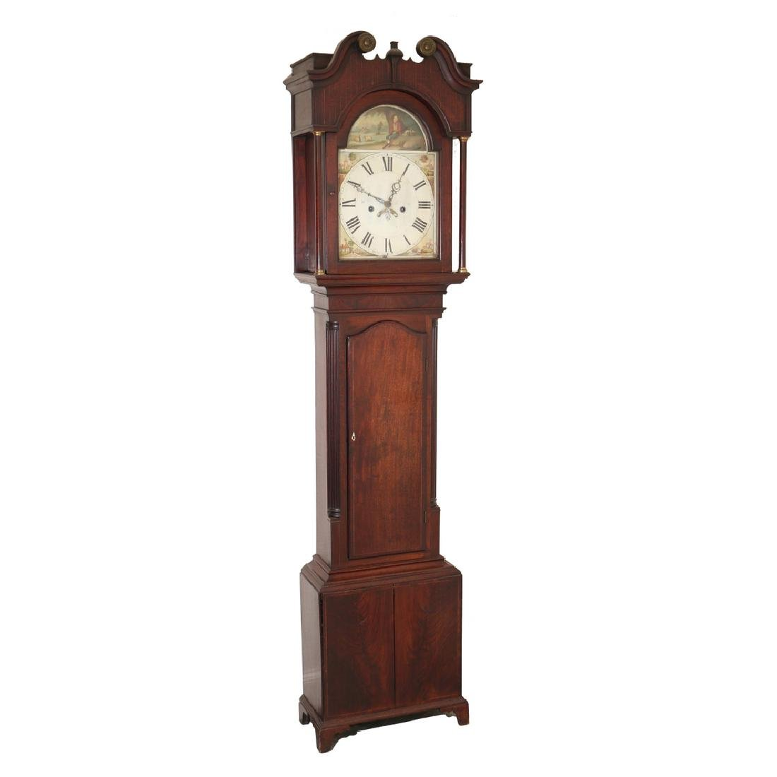 19THC. TALL CASE CLOCK