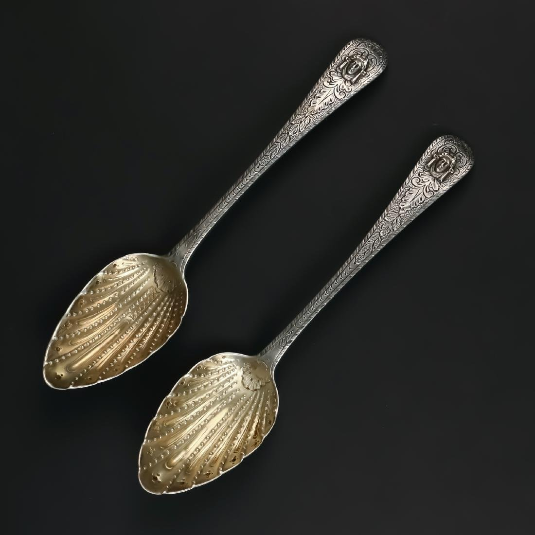 PAIR SCOTTISH SILVER SPOONS