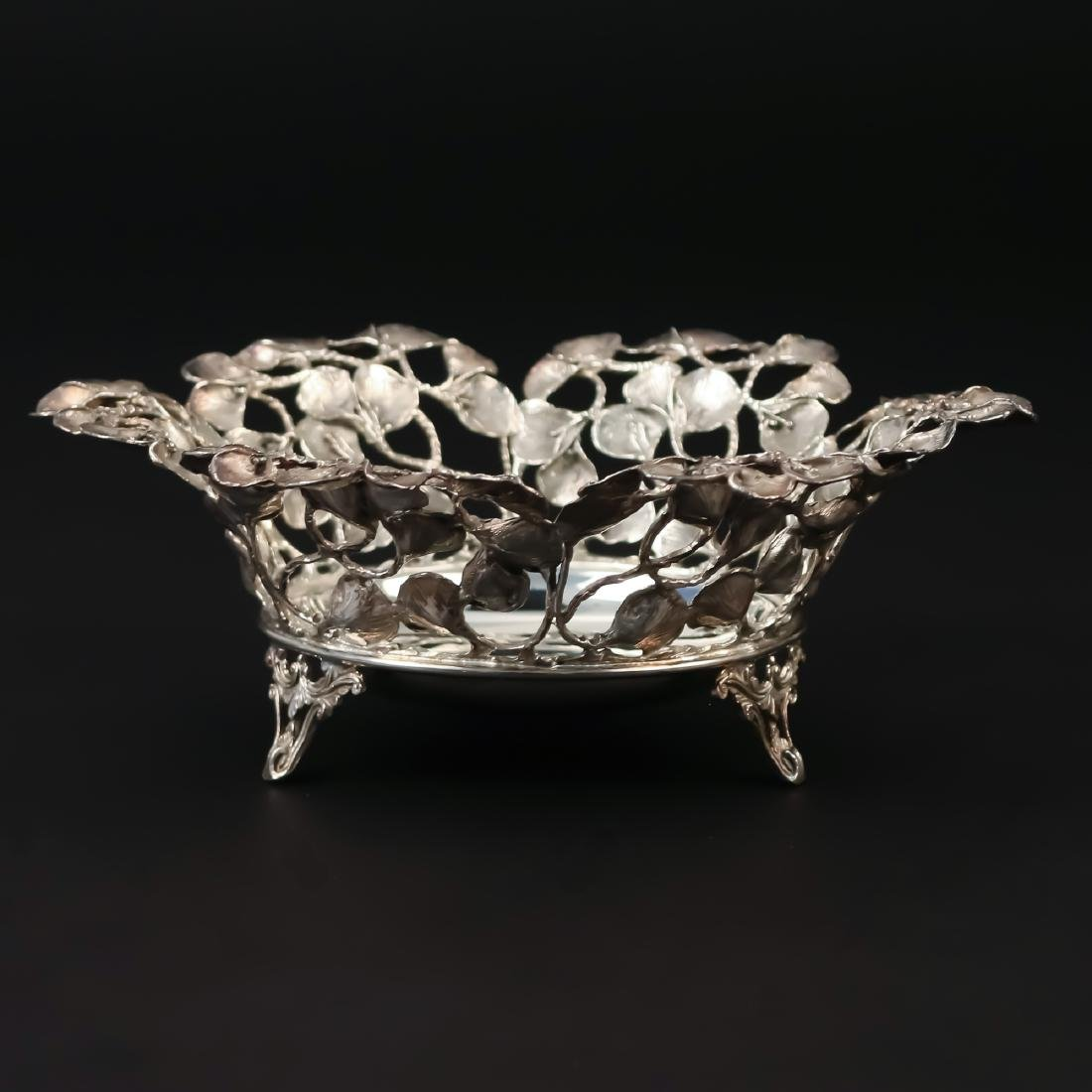 STERLING RETICULATED LEAF BOWL