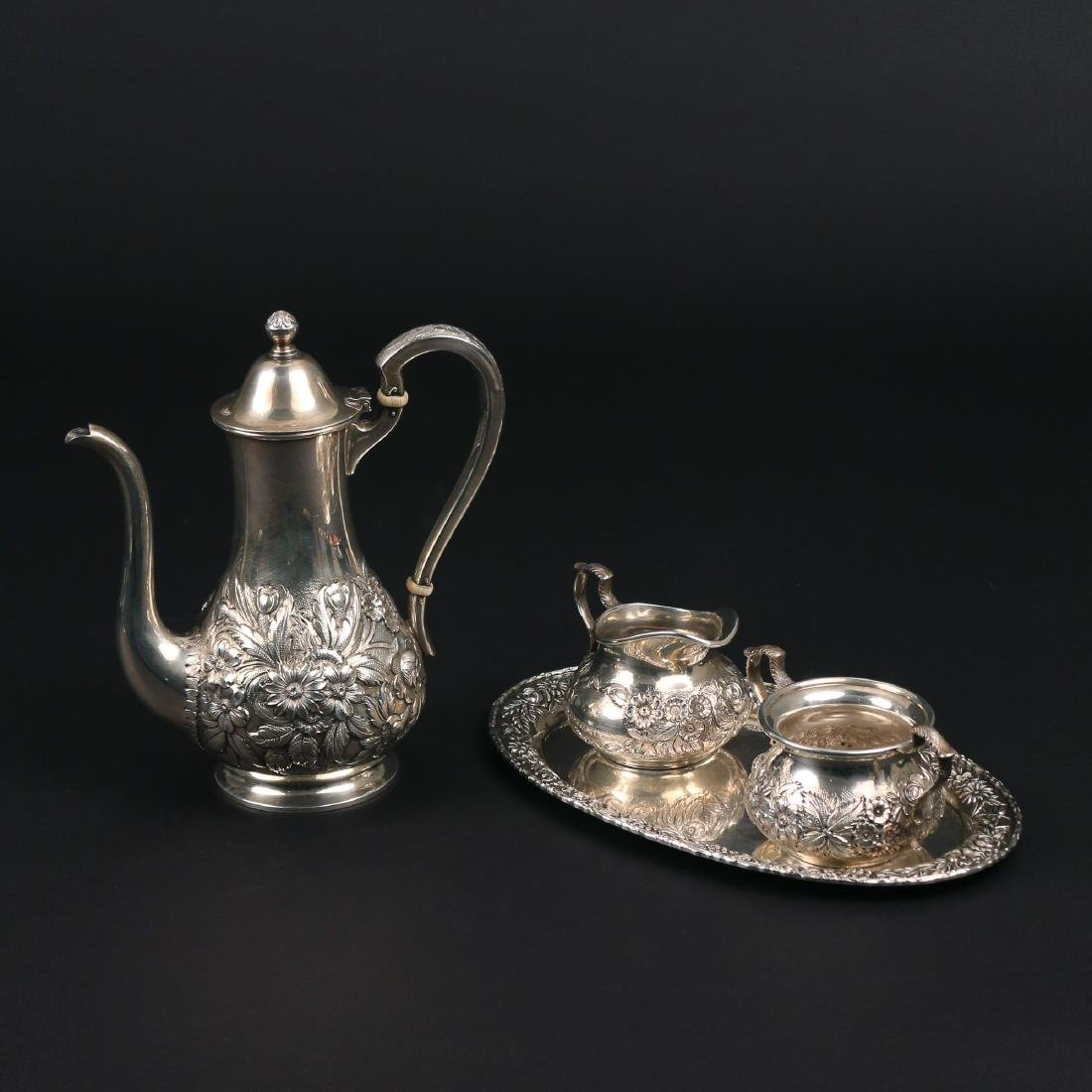 (4pc) S. KIRK & SON STERLING SILVER TEA SET