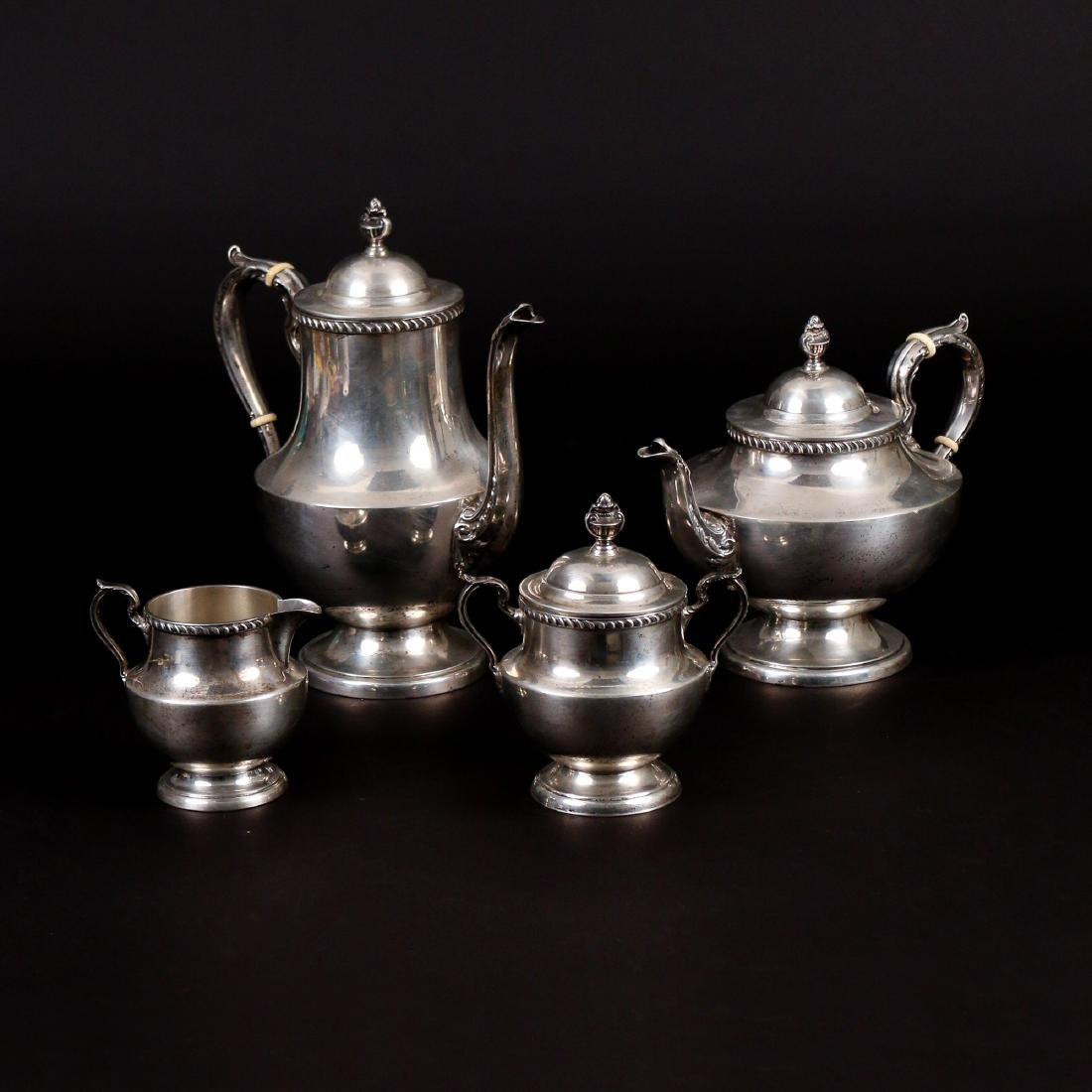 (4pc) POOLE STERLING SILVER TEA SERVICE