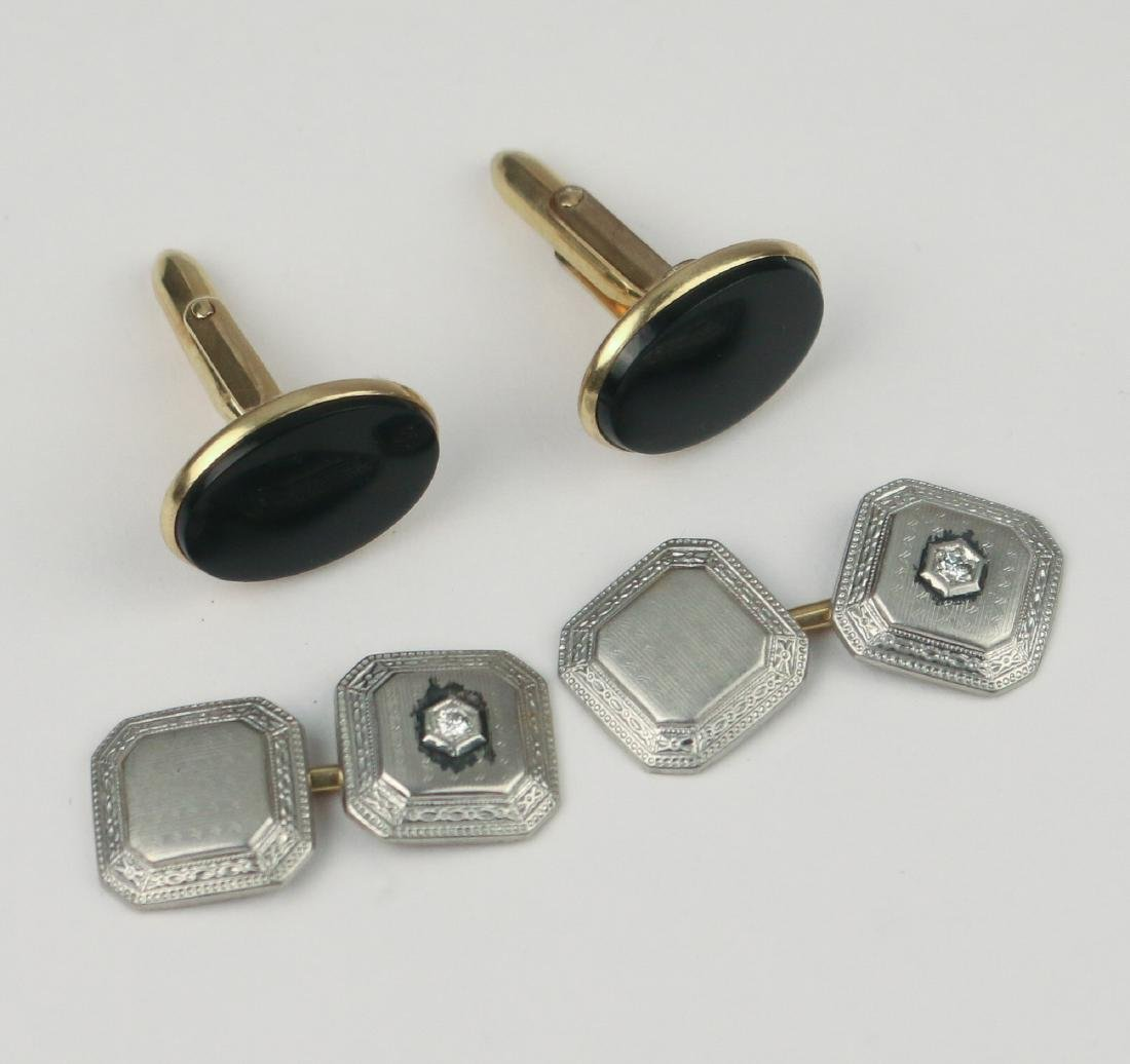 TWO PAIRS CUFFLINKS