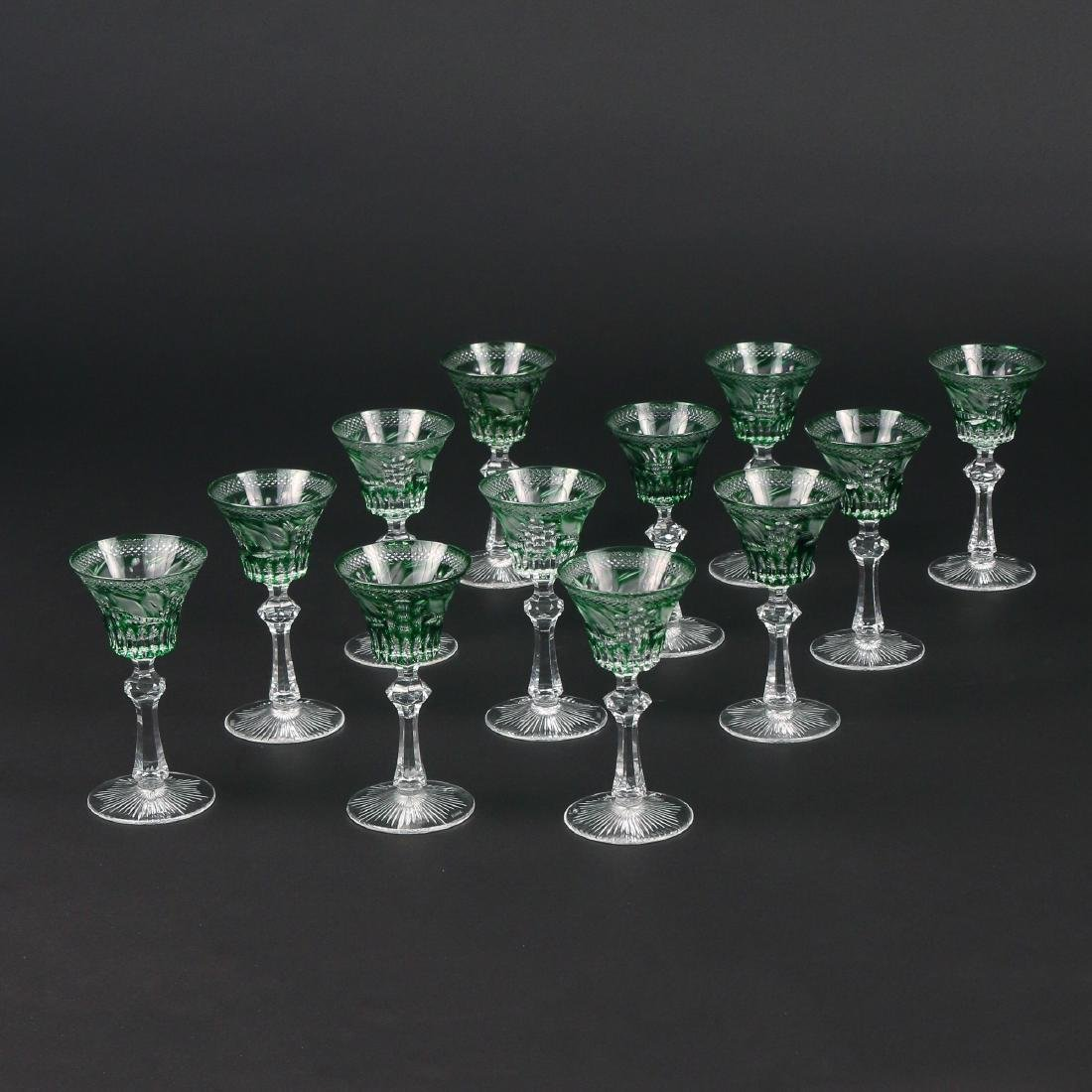 (12pc) KNITTEL CUT-TO-CLEAR CRYSTAL CORDIALS