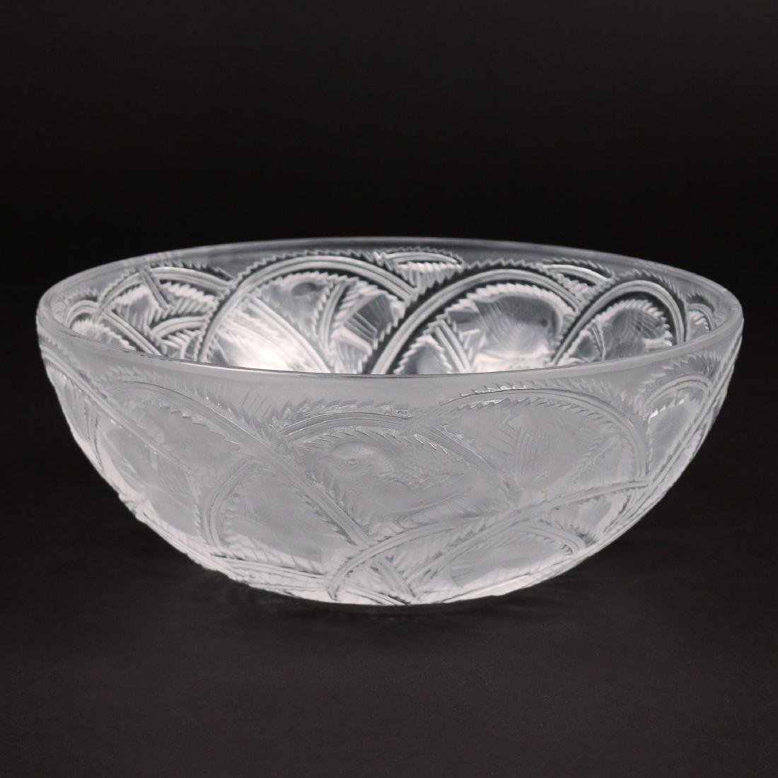 LALIQUE PINSONS BIRD BOWL