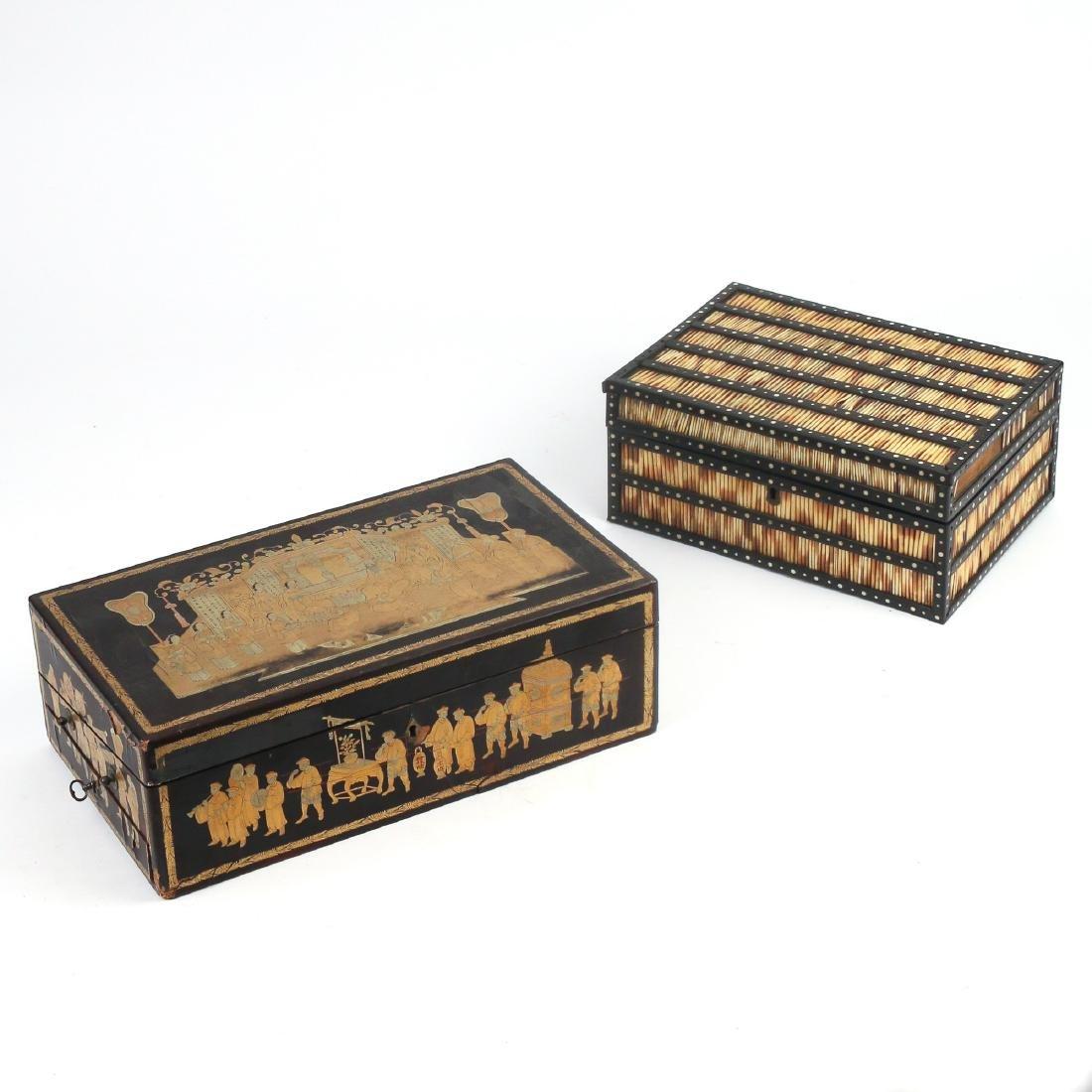 (2pc) MISC. ANTIQUE BOXES